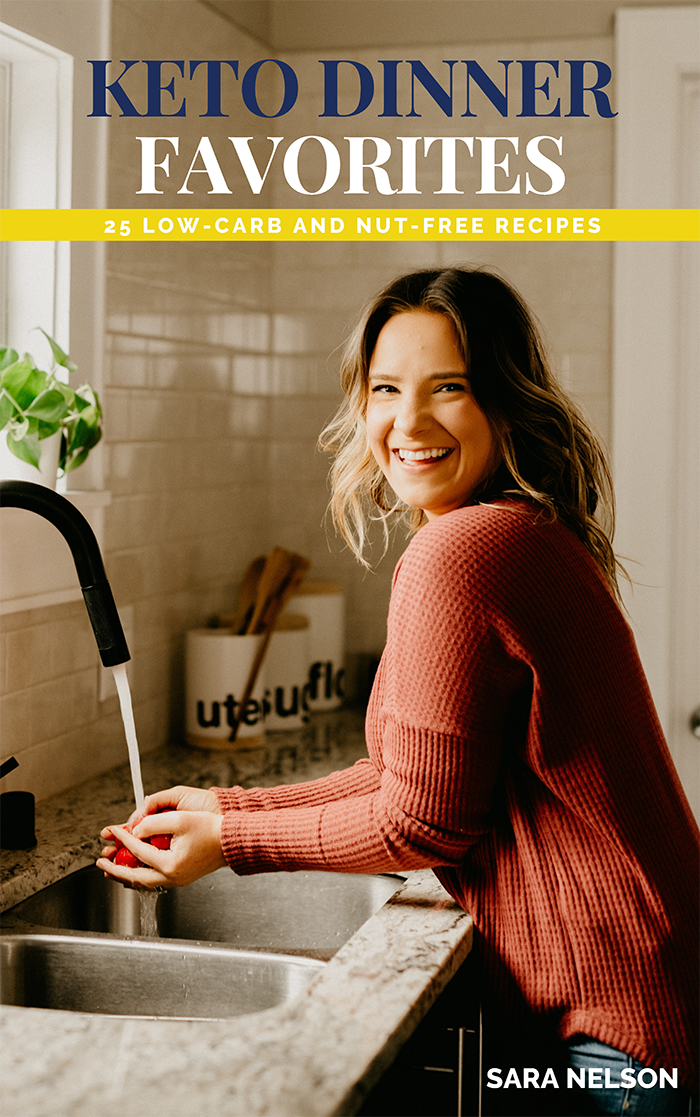 keto dinner favorites cover for sales landing page
